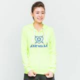 美國AIRWALK-休閒針織連帽外套-螢黃