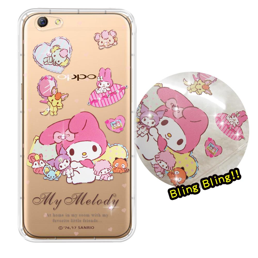三麗鷗授權 My Melody 美樂蒂 OPPO R9s Plus 夢幻童話 彩鑽氣墊保護殼(美樂蒂&玩偶)