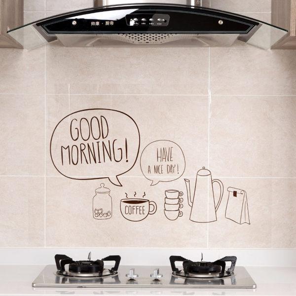 【PS Mall】透明自粘貼纸灶台耐高温防油貼 玻璃貼 吸水貼 廚房貼紙 防水貼裝飾貼 2入 (J1214)