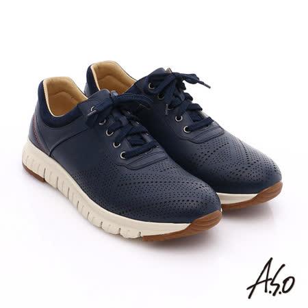 A.S.O 阿瘦 男 輕量真皮休閒鞋
