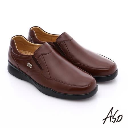 A.S.O阿瘦 真皮直套式奈米皮鞋