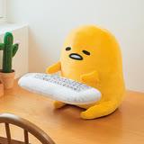 【FURYU】日版 Sanrio三麗鷗 景品 蛋黃哥 工作好累懶懶der PC抱枕 手靠墊 絨毛娃娃
