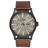 NIXON SENTRY LEATHER 冷冽爵士時尚腕錶-A1052687