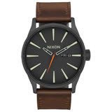NIXON SENTRY LEATHER 冷冽爵士時尚腕錶-A1052736