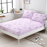 《HOYACASA卡拉》雙人親膚極潤天絲床包枕套三件組
