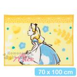 〔小禮堂〕迪士尼 愛麗絲 隨身披肩毯《黃.蕾絲.花花》70x100cm
