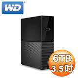 WD 威騰 My book 6TB USB3.0 3.5吋外接式硬碟(WDBBGB0060HBK-SESN)
