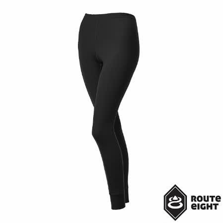 Route8 女 WARM 保暖排汗內搭褲(黑色)