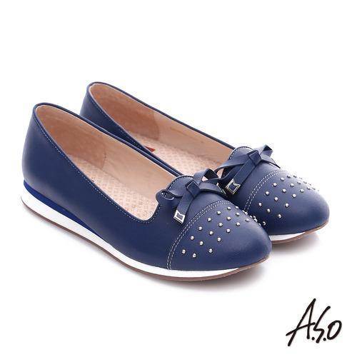 A.S.O 真皮鉚釘奈米氣墊鞋