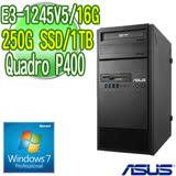 ASUS 華碩 ESC500 G4 四核繪圖工作站( E3-1245v5 16G 250G SSD 1TB Quadro P400 2GB繪圖卡 WIN7專業版)