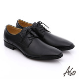 A.S.O 職人通勤 真皮漸層雕花紳士皮鞋(黑)