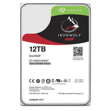 Seagate希捷12TB 3.5吋  NAS專用硬碟