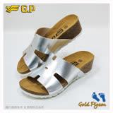 【G.P 休閒個性柏肯鞋】W780-77 銀色 (SIZE:35-39 共二色)