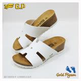 【G.P 休閒個性柏肯鞋】W780-80 白色 (SIZE:35-39 共二色)