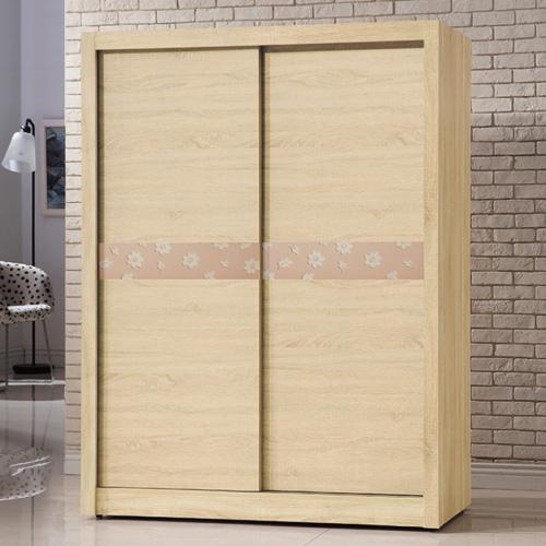 AS-伯裏斯5尺原切拉門衣櫃-149x60x203cm
