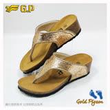 【G.P 休閒個性柏肯鞋】W783-88 金色 (SIZE:35-39 共二色)