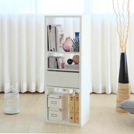 EASY HOME 加厚三格收納櫃附抽屜&活動板(白色)