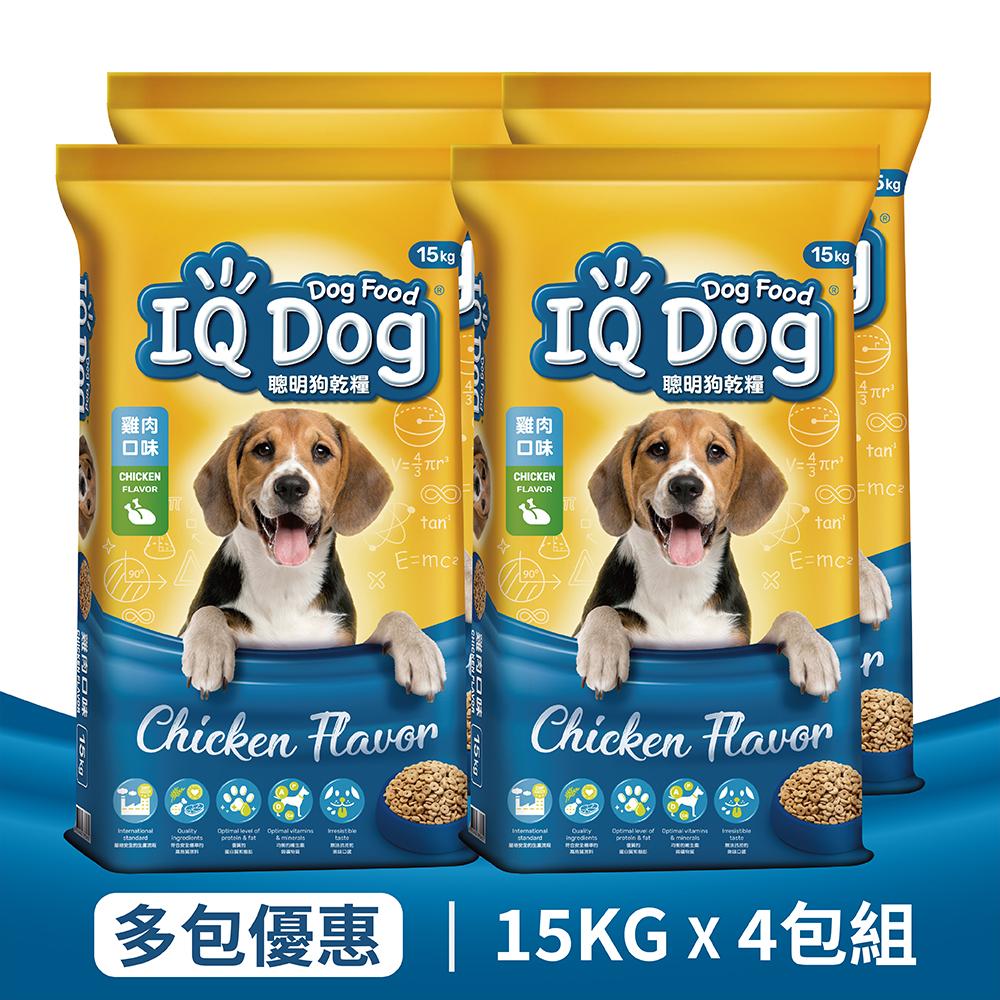 【IQ Dog】聰明乾狗糧 - 雞肉口味成犬配方 15kg x 4包