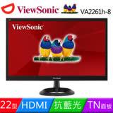ViewSonic 優派 22型 VA2261h-8 護眼零閃屏HDMI寬螢幕