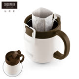 【仙德曼 SADOMAIN】保溫咖啡濾掛杯350ml-白色