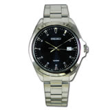SEIKO 精工 不鏽鋼錶殼 錶帶 石英男錶 日期 防水 SUR207P1