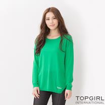 TOP GIRL 甜美系針織上衣(綠色)