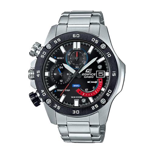 CASIO 卡西歐 礦物玻璃 碼錶 不鏽鋼錶帶 男錶 EFR-558DB-1A