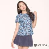 CHICA 嬌羞花朵短袖上衣(2色)