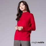 獨身貴族 簡約優雅小立領設計長袖線衫(2色)