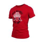 (男) NEWBALANCE 短袖T恤-NB 紐巴倫 上衣 慢跑 路跑 休閒 暗紅黑