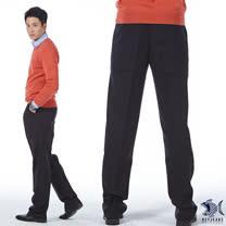 【NST Jeans】 優越 質感 黑系 羊毛打摺西裝褲(中高腰寬版) 002(8876)