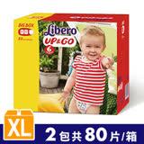【麗貝樂】敢動褲6號(XL-40片x2包/箱) 彩盒版