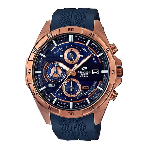 EDIFICE 男錶 秒錶 玫瑰金離子鍍錶殼 EFR-556PC-2A