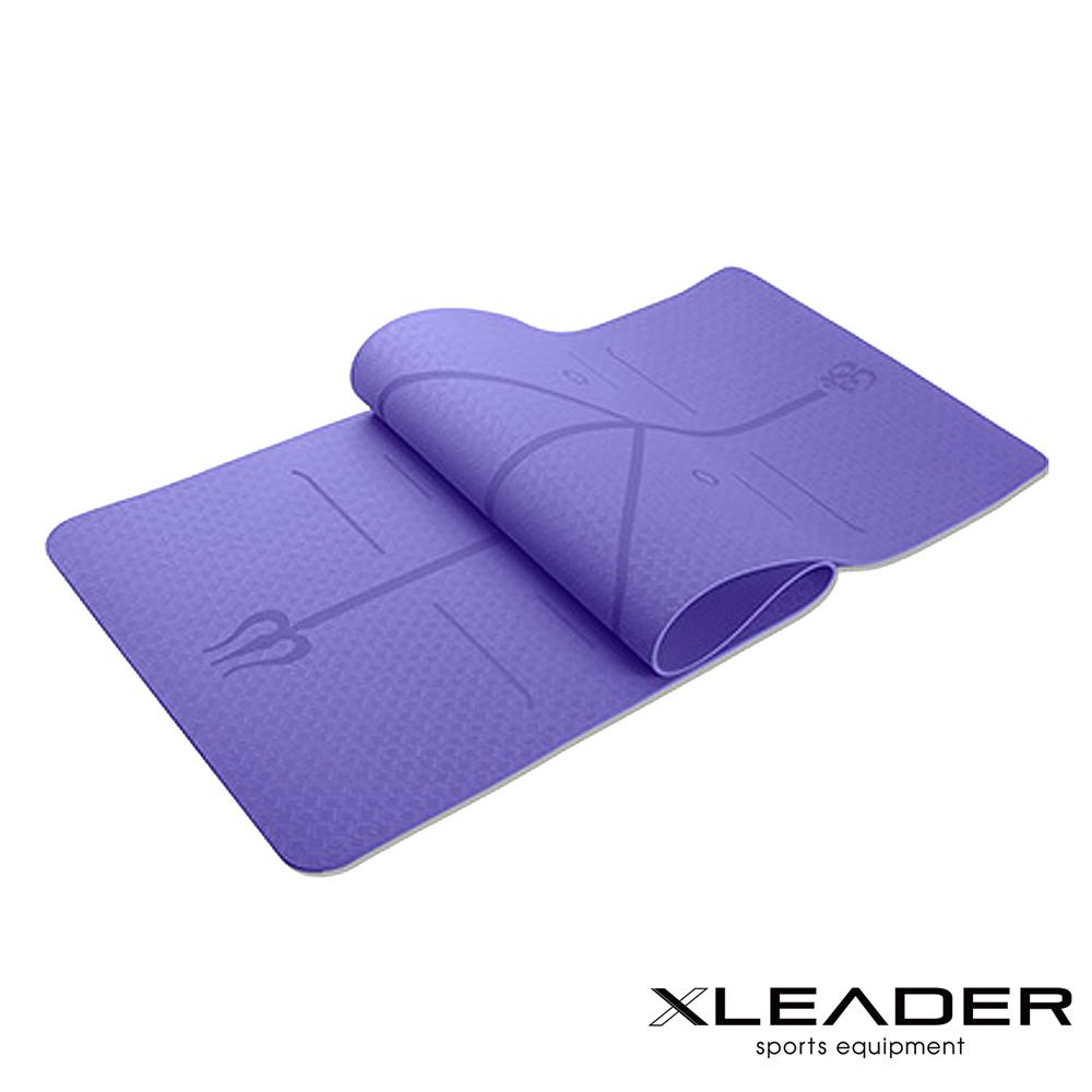 Leader環保TPE雙面防滑體位線瑜珈墊6mm