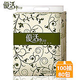 【雙12限定】優活抽取式柔拭家用紙100抽x80包/箱