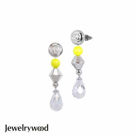 Jewelrywood NAME BEVERLY HILLS霓虹水晶耳環
