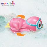 munchkin滿趣健-游泳企鵝洗澡玩具-粉