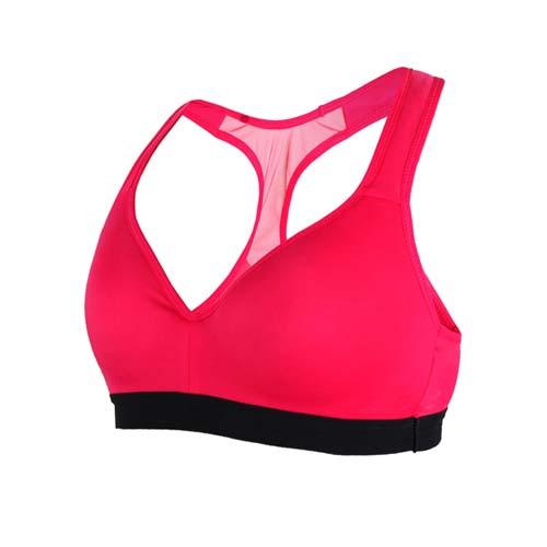 (女) MIZUNO BG 運動內衣-運動背心 健身 訓練 慢跑 路跑 瑜珈 美津濃 桃紅黑