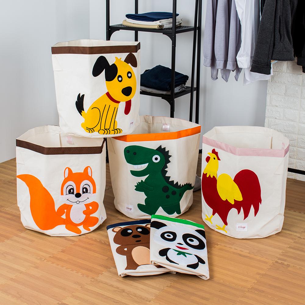 超值2入組 童趣動物收納籃洗衣籃