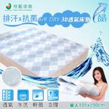 【格藍傢飾】AIR-dry排汗防菌3D透氣機能床墊(單人)