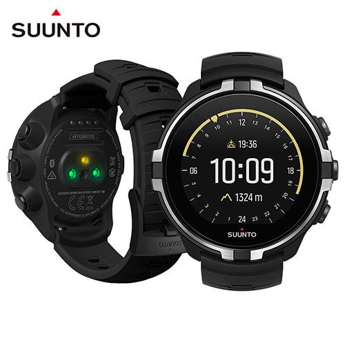 SUUNTO Spartan Sport Wrist HR Baro Stealth 彩色觸控運動鍛鍊與戶外探險腕式心率GPS腕錶-潛行黑