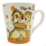 〔小禮堂〕迪士尼 奇奇蒂蒂 陶瓷馬克杯《橘白.音符.擁抱》精美盒裝