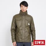 EDWIN 冒險旅行兩件式軍裝舖棉外套-男-橄欖綠