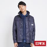 EDWIN 冒險旅行兩件式軍裝舖棉外套-男-丈青