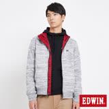 EDWIN 冒險旅行雙面穿防風外套-男-麻灰色