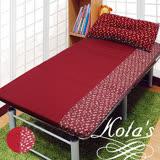 【KOTAS】冬夏透氣床墊 單人 3尺 送記憶枕1顆 記憶枕 單人床墊-紅小花