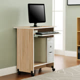 【Yomei】DIY輕巧附鍵盤架電腦桌/工作桌/書桌(淺橡色)