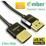 amber 超極細 HDMI線材 1.8米 HDMI 1.4版 4K2K PS4專用線螢幕線 超乎想像的輕巧