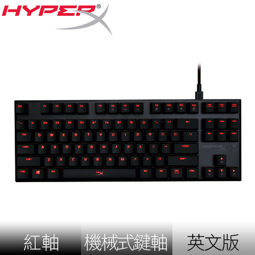 Kingston 金士頓 HyperX Alloy FPS 紅軸 電競短版機械式鍵盤《英文版》