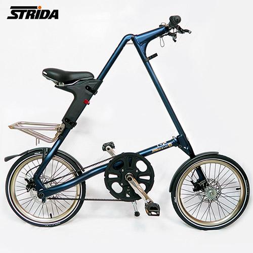 STRiDA 速立達 18吋3速EVO版碟剎折疊單車(三角形單車)-霧藍色